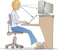 Rezultat slika za pravilno sednje za računaru