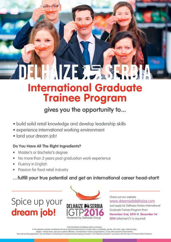 The Delhaize Group International Graduate Trainee Program was launched in Since then, almost 40 Trainees have joined our organization. We thought we'd leave it up to them to tell you more about the Program! Play the video to get a snapshot of a number of (Alumni) Trainees, who share their.